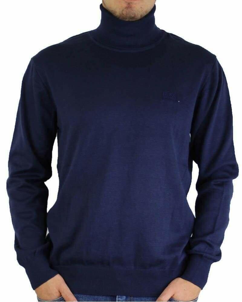 BOSS Rollneck Men's Pullover Navy