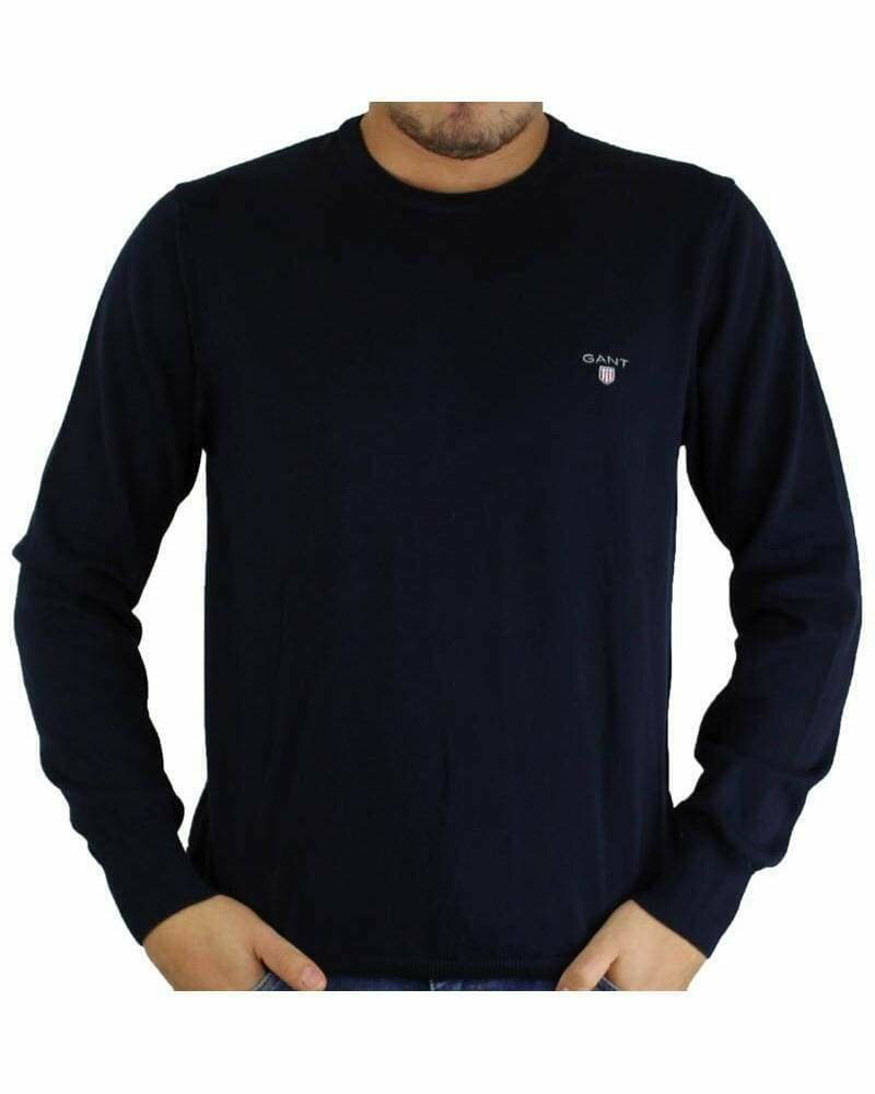 Gant Men's Pullover Crew - Neck Navy