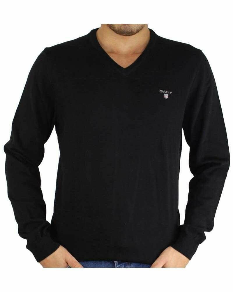 Gant Men's Pullover V - Neck Black