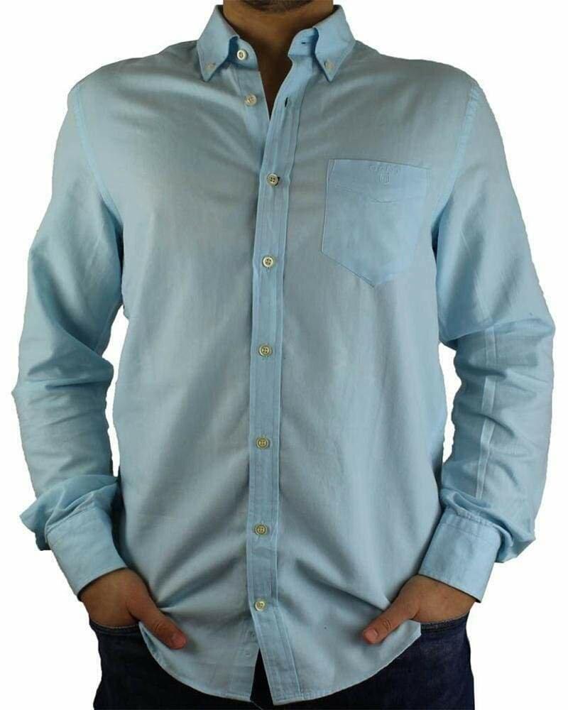 Gant Men's Shirts Blue Oxford