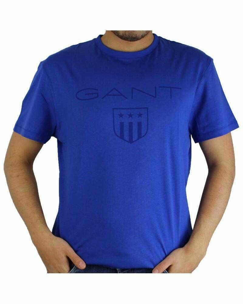 Gant Men's T-Shirts Wappen Blue