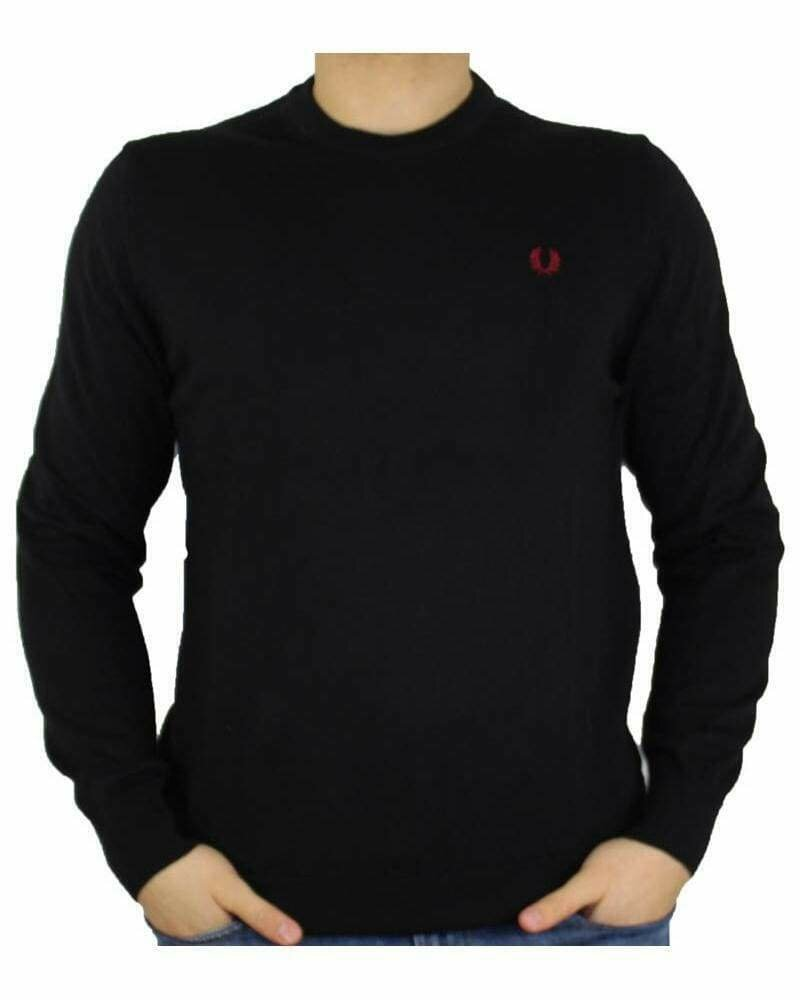 Fred Perry Crew Neck Men's Pullover Black