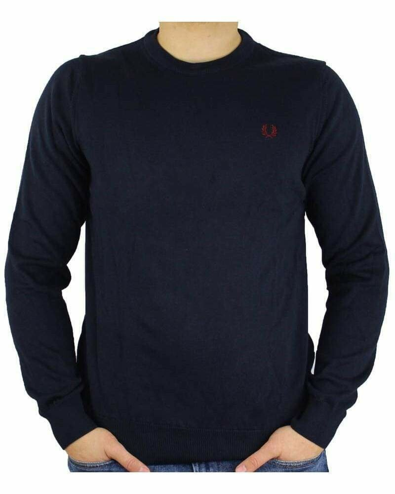 Fred Perry Crew Neck Men's Pullover Navy
