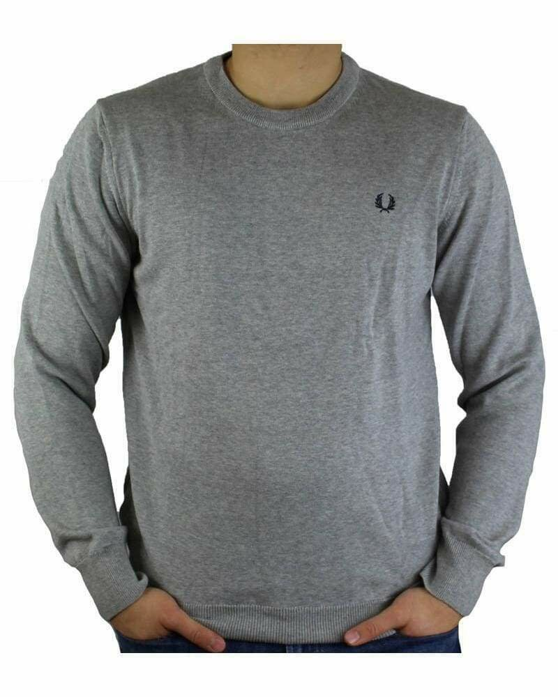Fred Perry Crew Neck Men's Pullover Light Gray