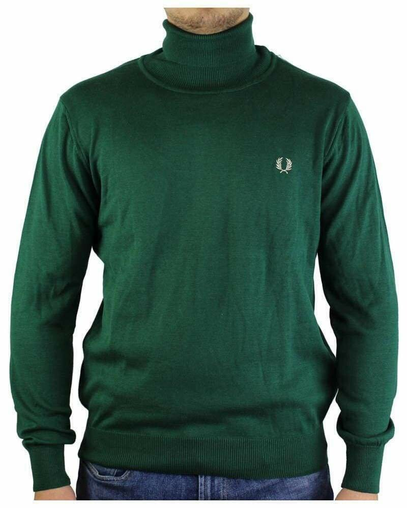 Fred Perry Rollneck Men's Pullover Green