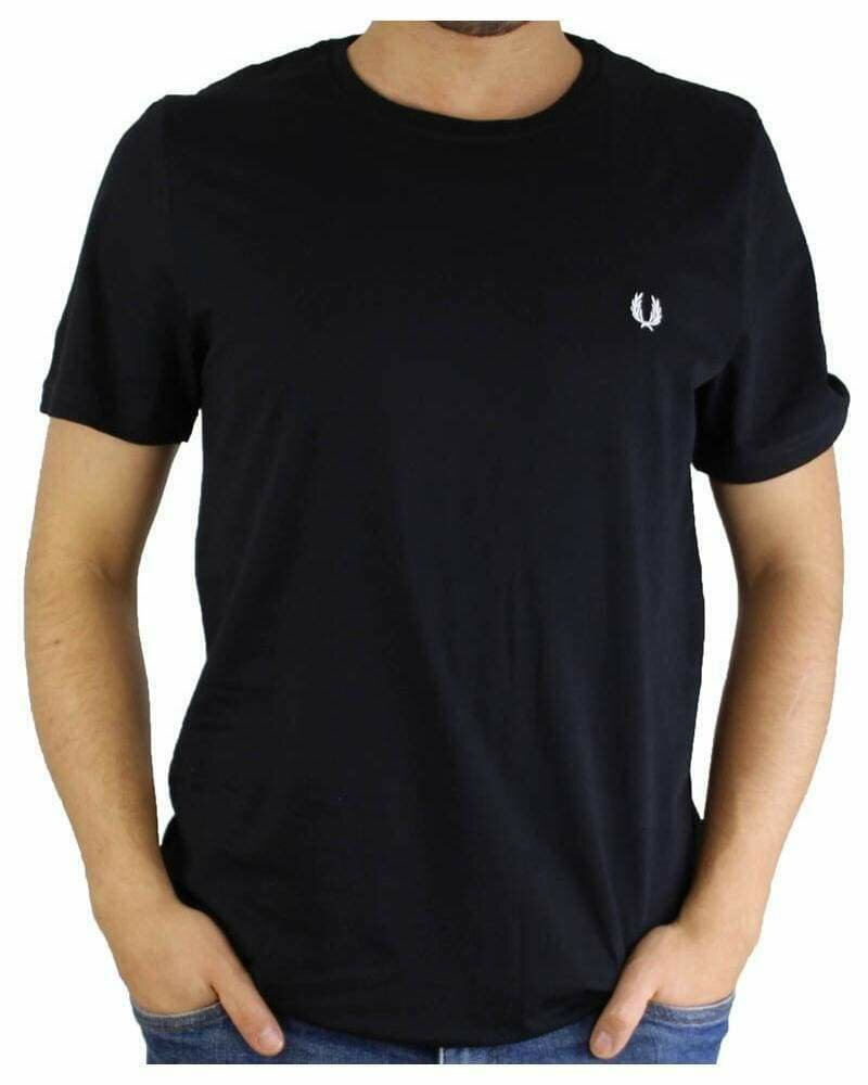 Fred Perry Men's T-Shirt Crew Neck Black
