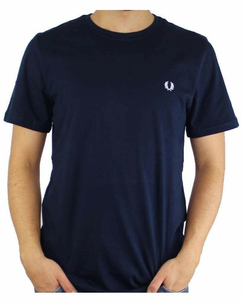 Fred Perry Men's T-Shirt Crew Neck Navy