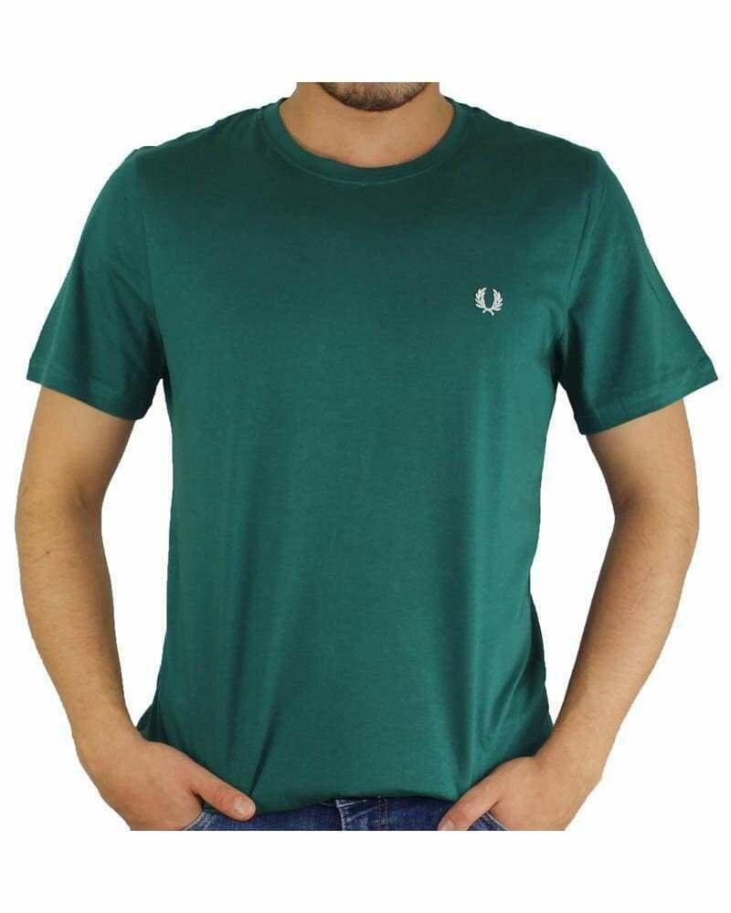 Fred Perry Men's T-Shirt Crew Neck Green