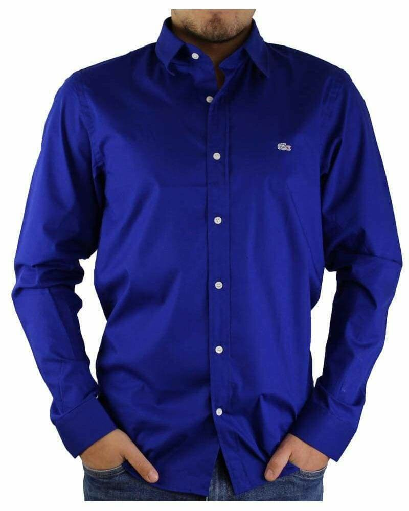 Lacoste Men's Shirts Slim Sax Blue