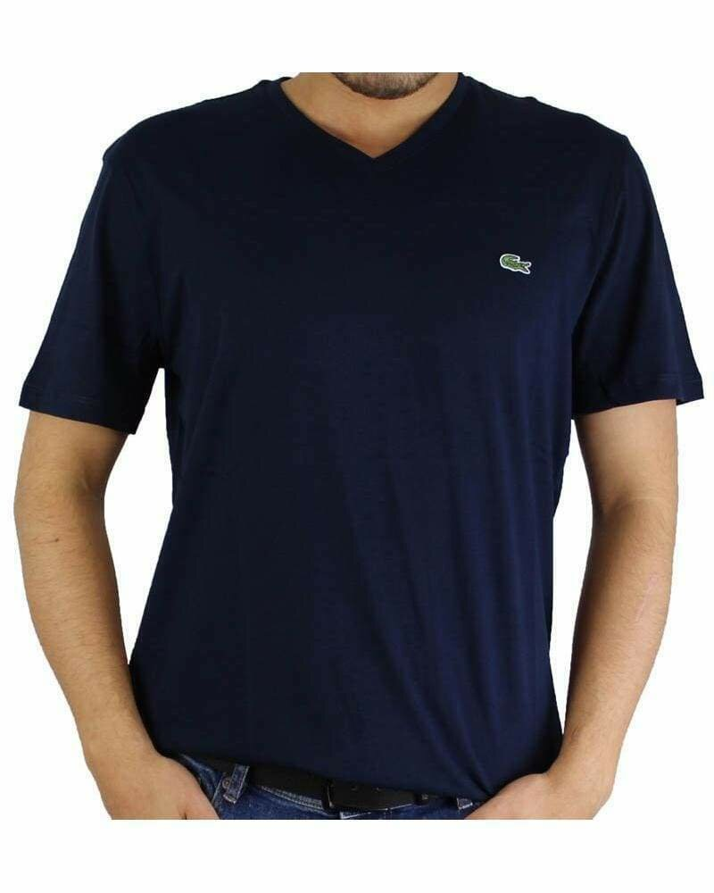 Lacoste Men's T-Shirt V Neck Navy