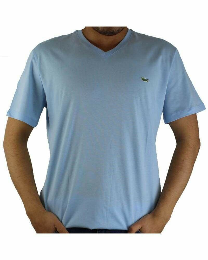 Lacoste Men's T-Shirt V Neck Light Blue