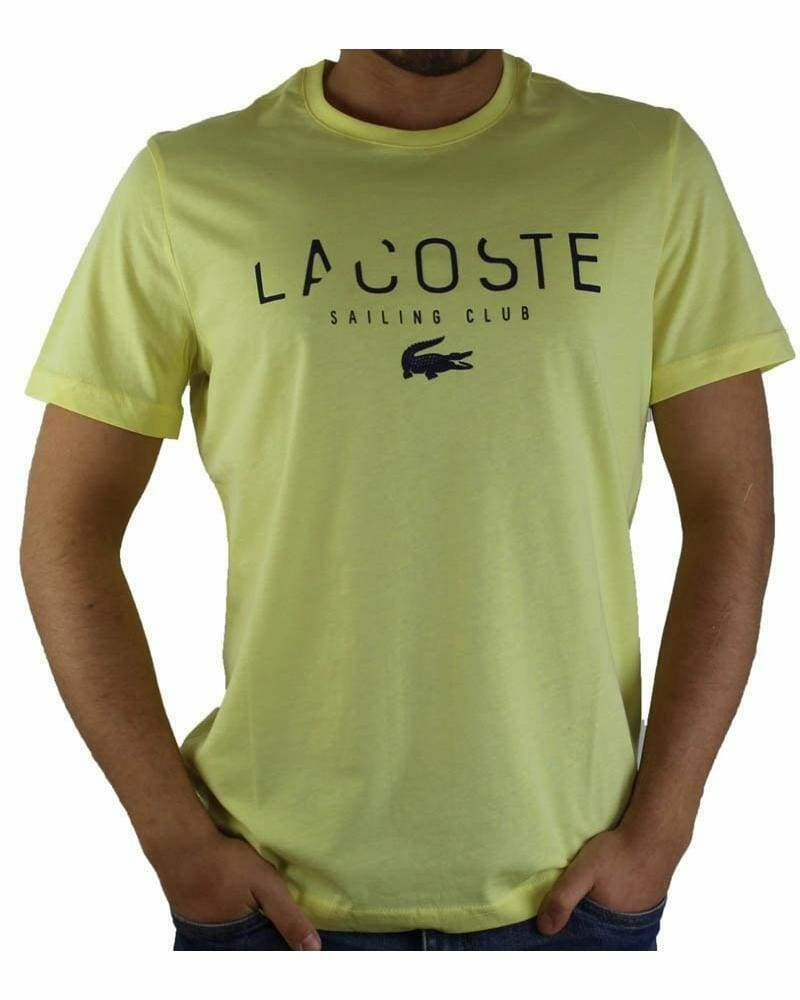 Lacoste Men's T-Shirt Sailing Club Crew Neck Yellow