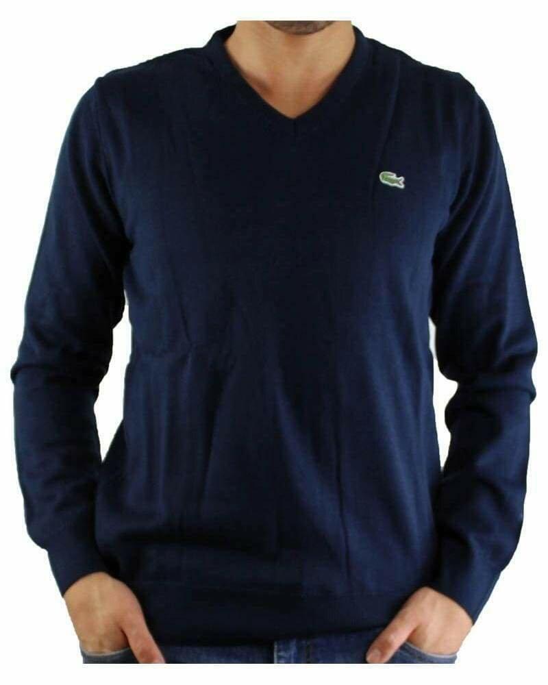 Lacoste Men's Pullover V - Neck Navy