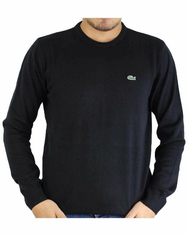 Lacoste Men's Pullover Crew Neck Black