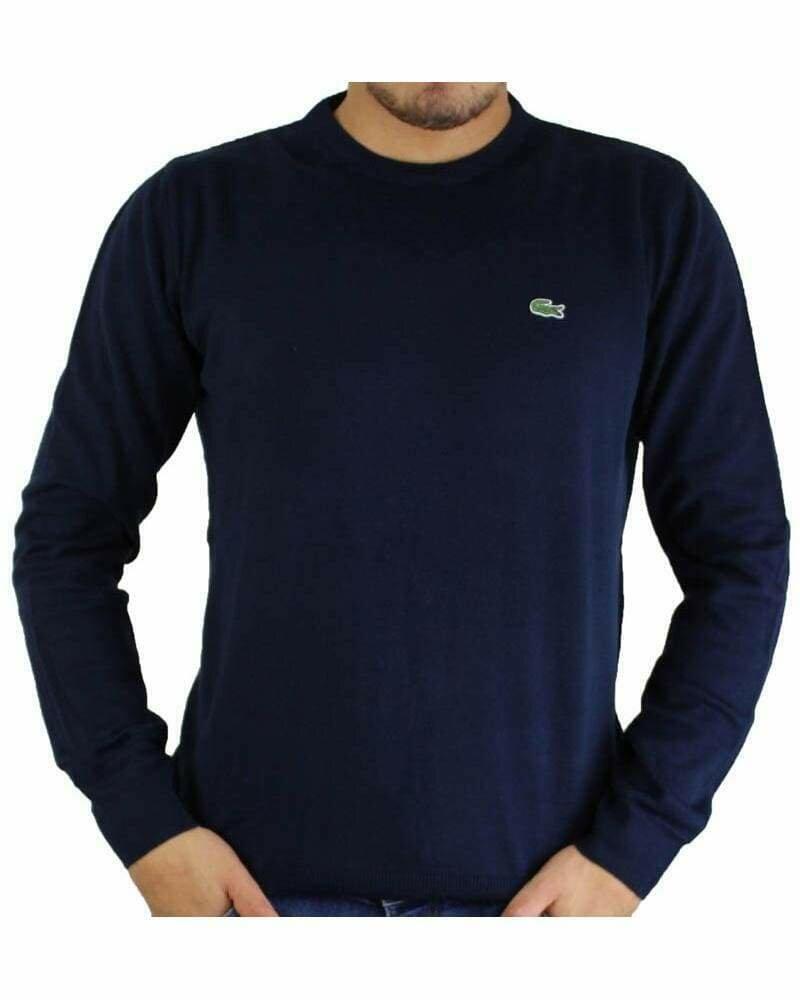 Lacoste Men's Pullover Crew Neck Navy