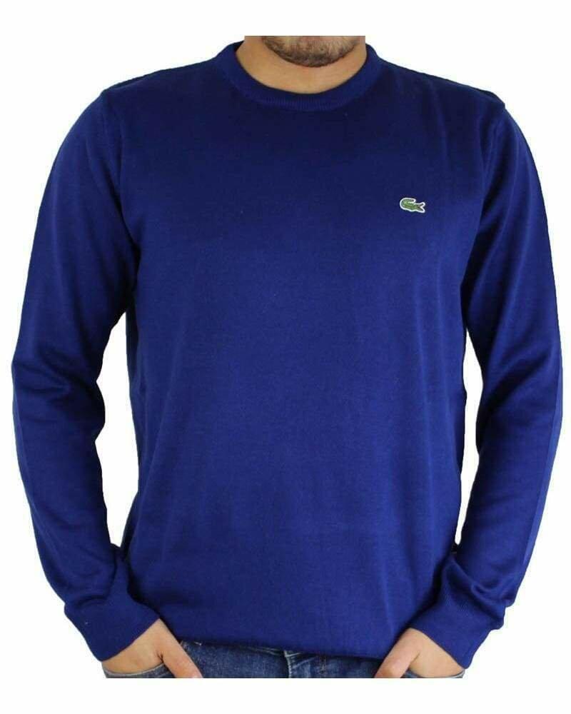 Lacoste Men's Pullover Crew Neck Sax Blue