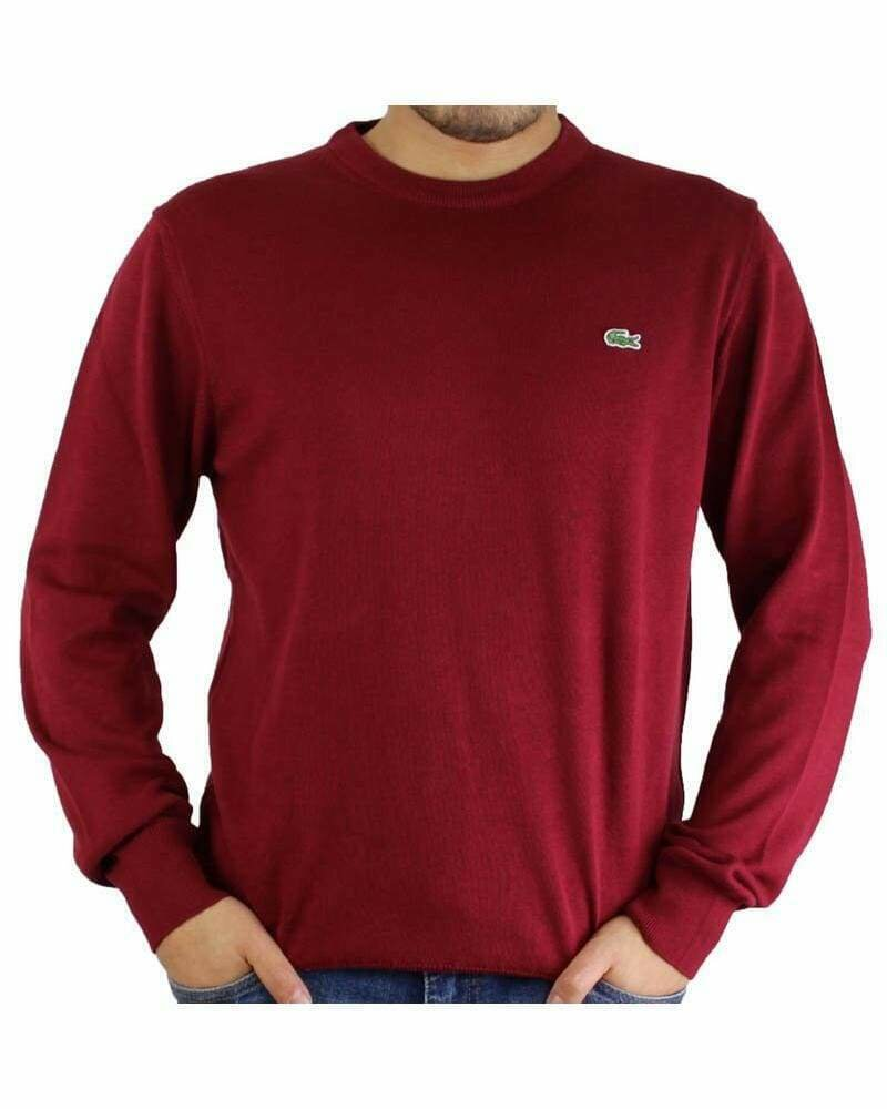 Lacoste Men's Pullover Crew Neck Red