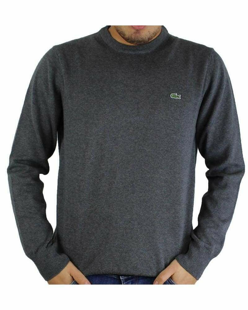 Lacoste Men's Pullover Crew Neck Dark Gray
