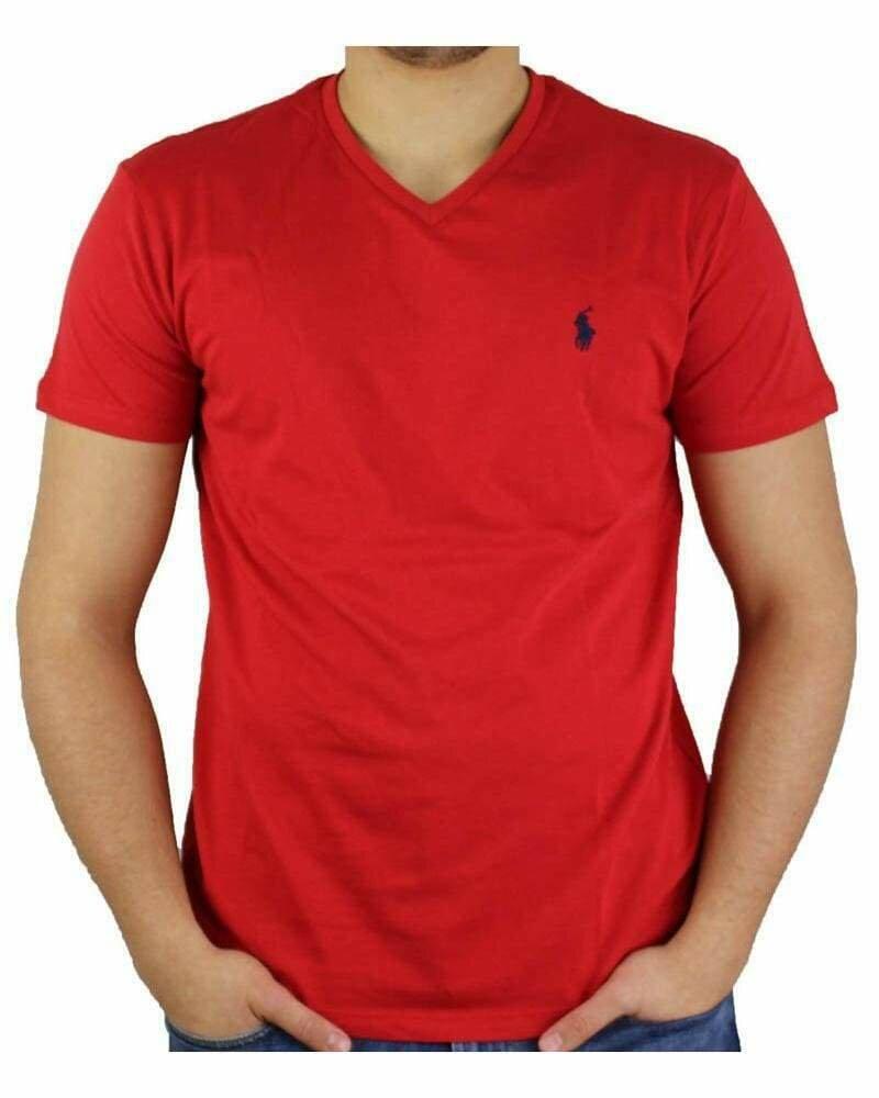 Ralph Lauren V - Neck Men's T-Shirt Red