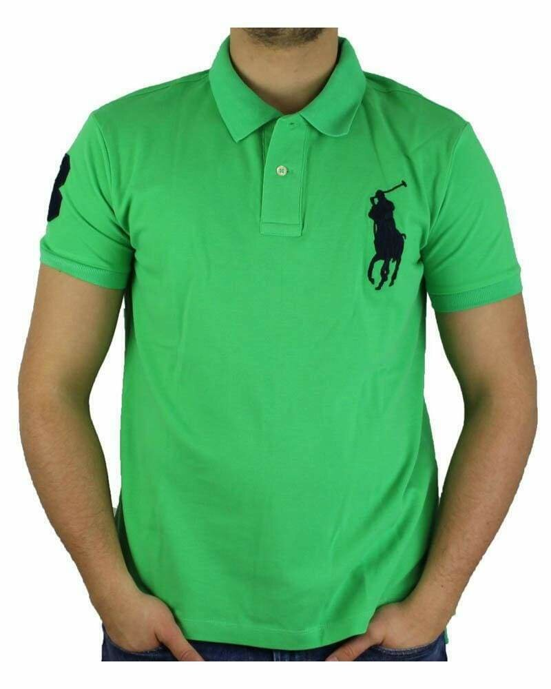 Ralph Lauren Custom Fit Men's Polo Shirts Big Pony Light Green