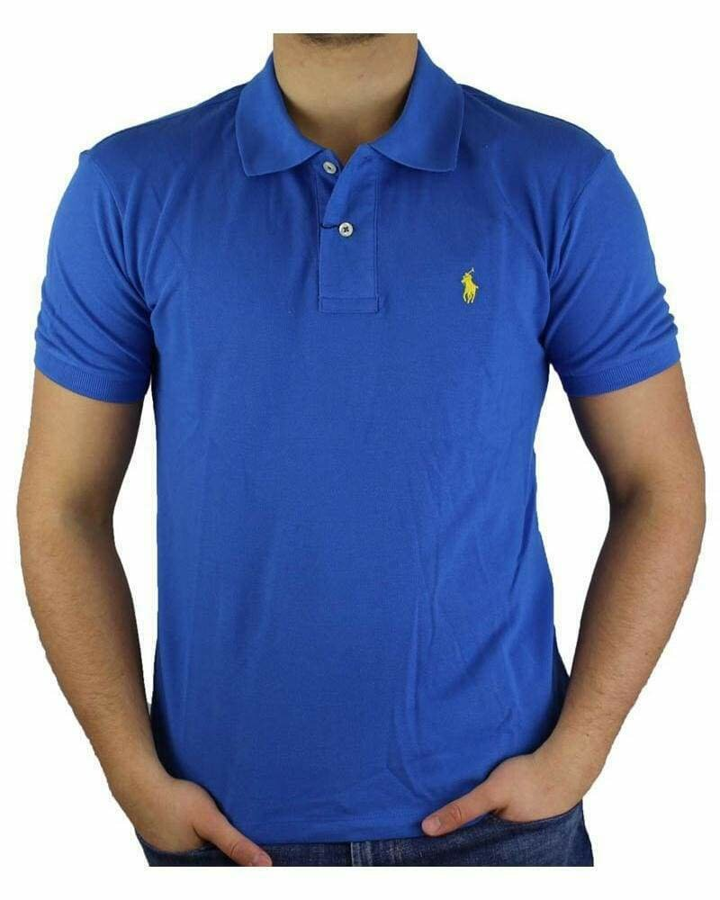 Ralph Lauren Custom Fit Men's Polo Shirts Small Pony Sax Blue