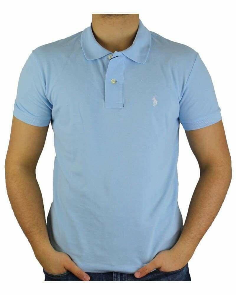 Ralph Lauren Custom Fit Men's Polo Shirts Small Pony Light Blue