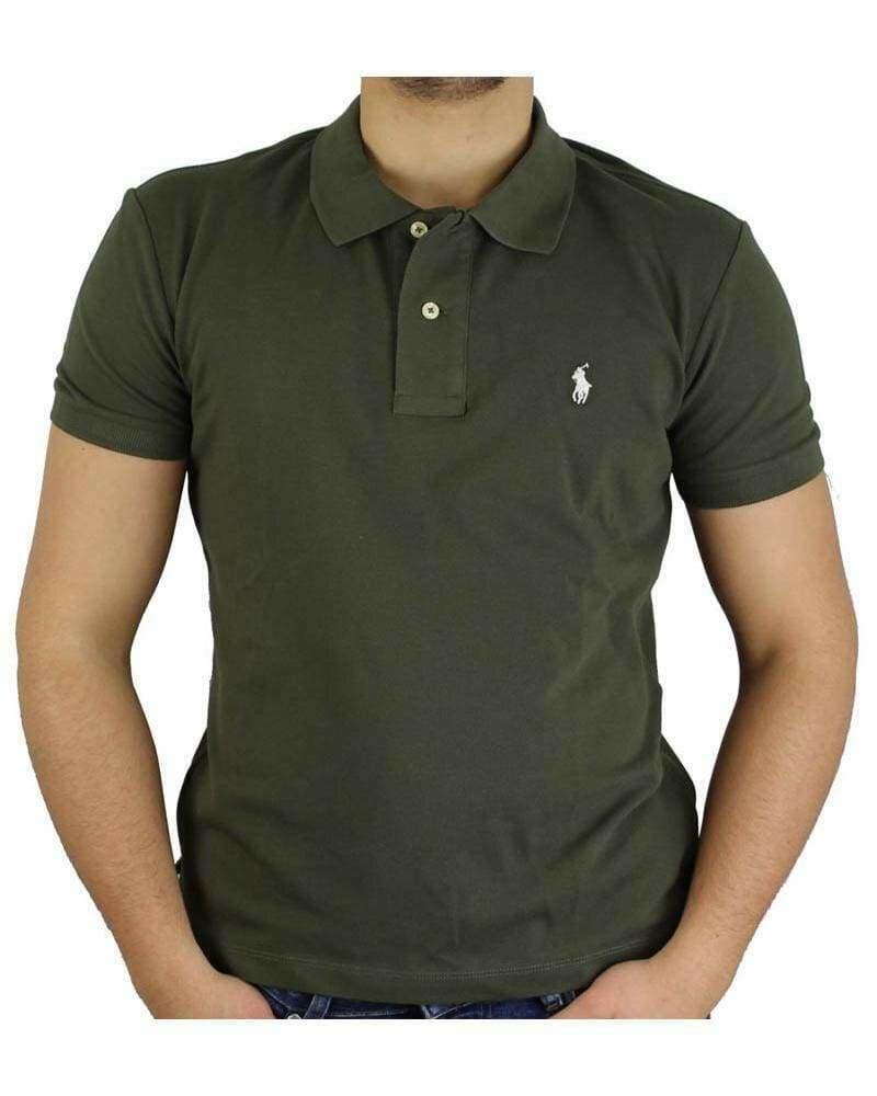 Ralph Lauren Custom Fit Men's Polo Shirts Small Pony Khaki