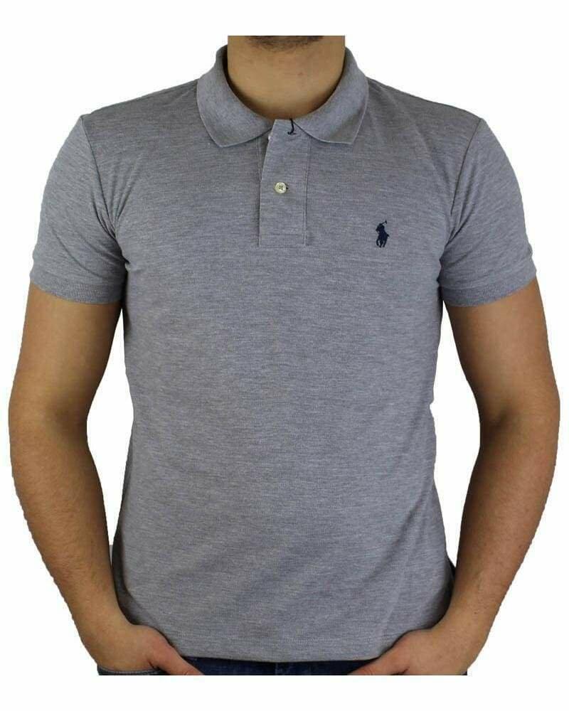 Ralph Lauren Custom Fit Men's Polo Shirts Small Pony Gray