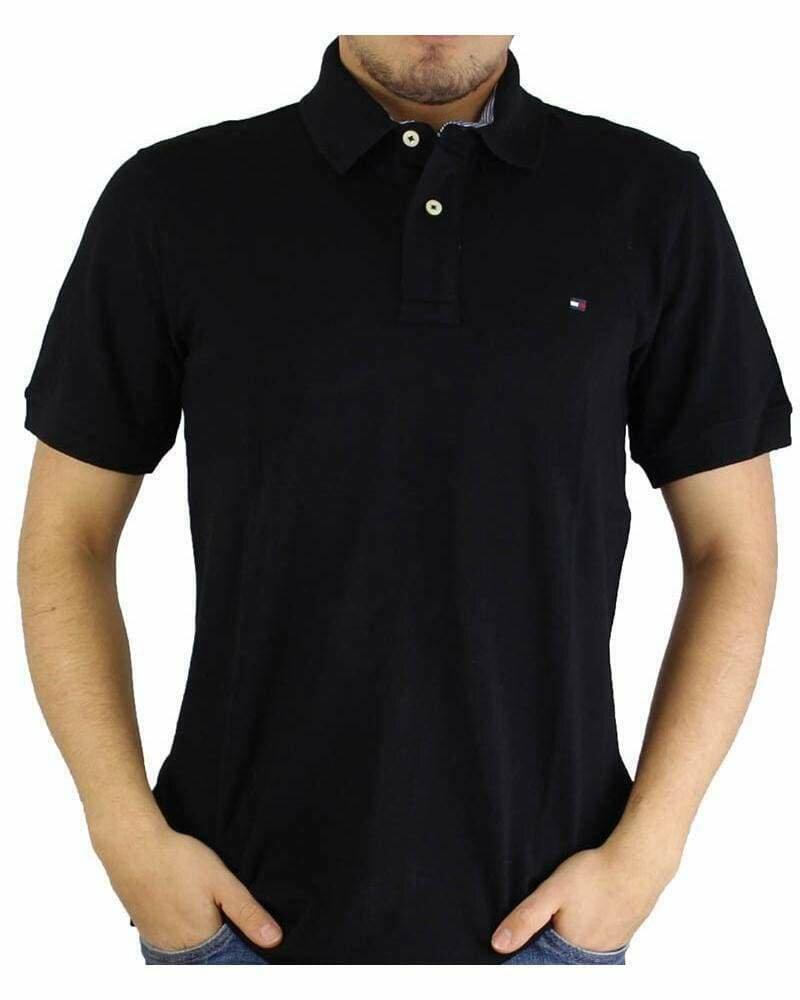 Tommy Hilfiger Men's Polo Shirts Regular Fit Black