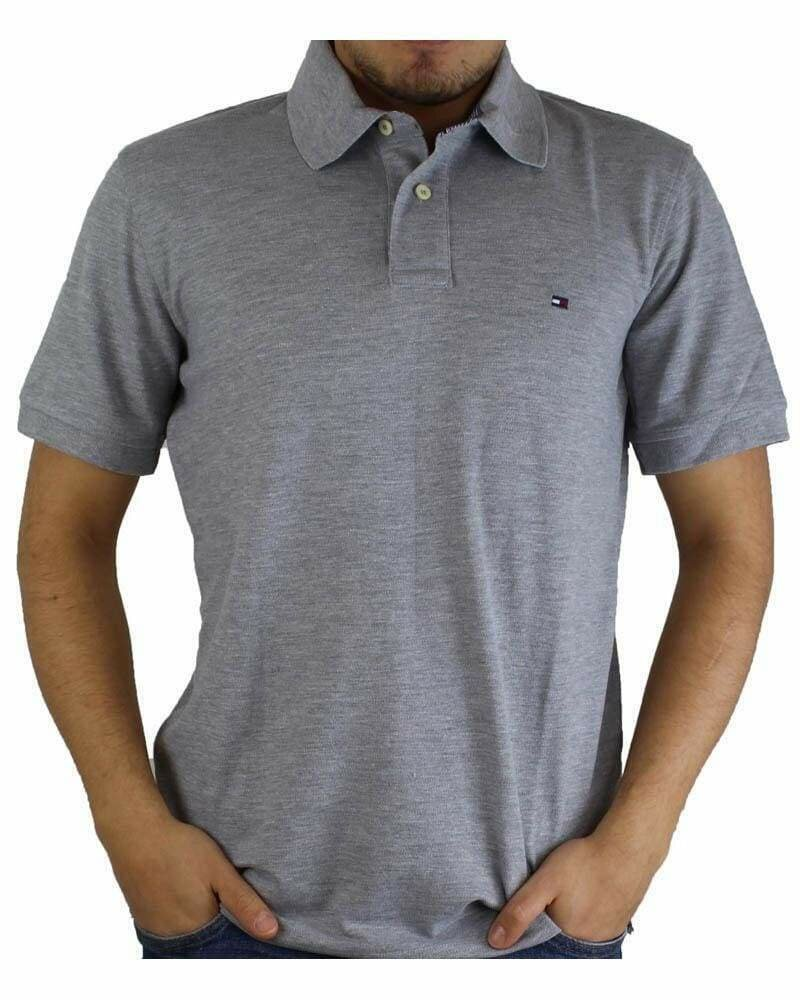 Tommy Hilfiger Men's Polo Shirts Regular Fit Gray