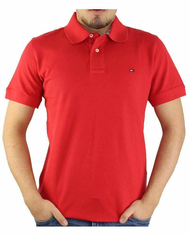 Tommy Hilfiger Men's Polo Shirts Regular Fit Red