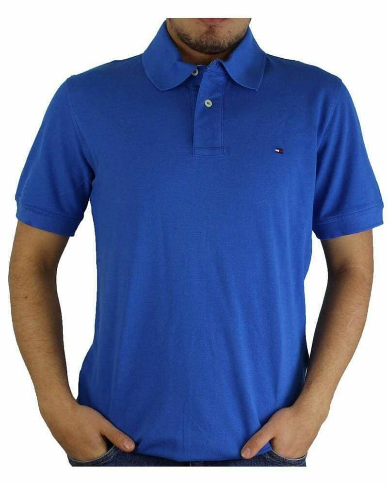 Tommy Hilfiger Men's Polo Shirts Regular Fit Sax Blue