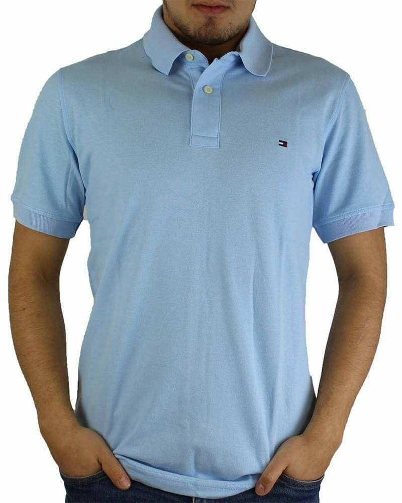 Tommy Hilfiger Men's Polo Shirts Regular Fit Light Blue