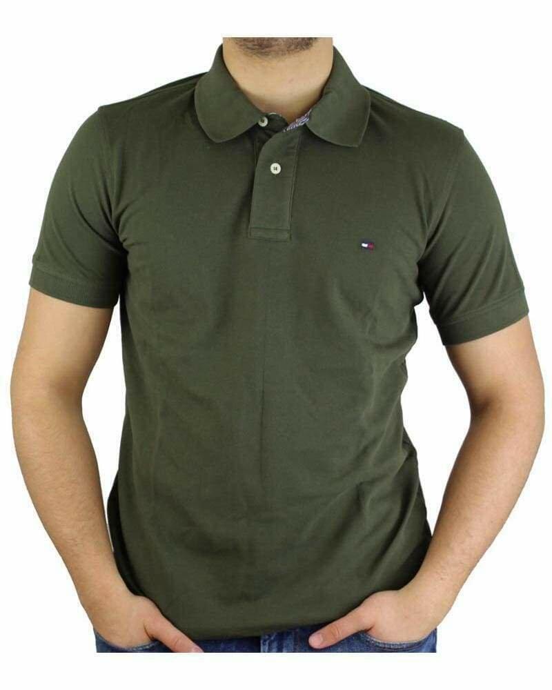 Tommy Hilfiger Men's Polo Shirts Regular Fit Khaki