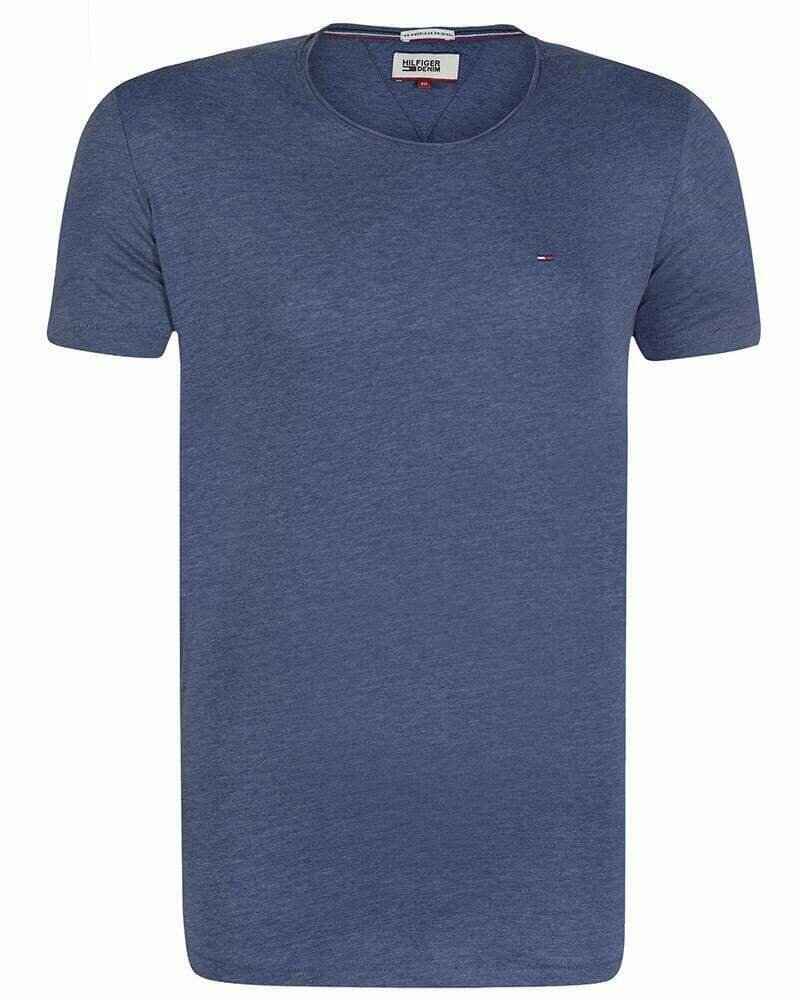 Tommy Hilfiger Men's T-Shirt Crew Neck Blue