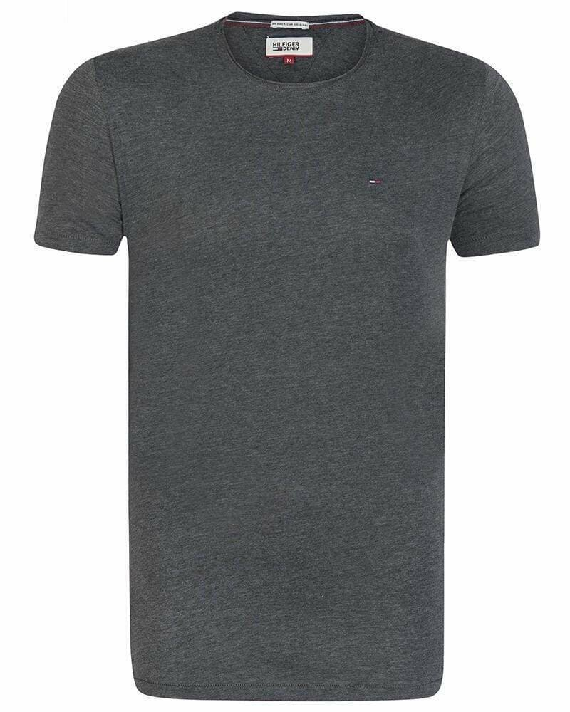 Tommy Hilfiger Men's T-Shirt Crew Neck Dark Gray