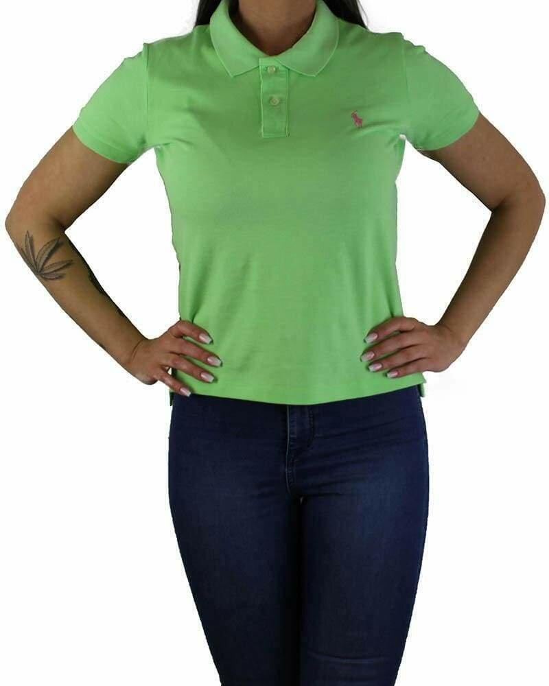 Ralph Lauren Women's Polo Shirts Classic Fit Small Pony Light Green