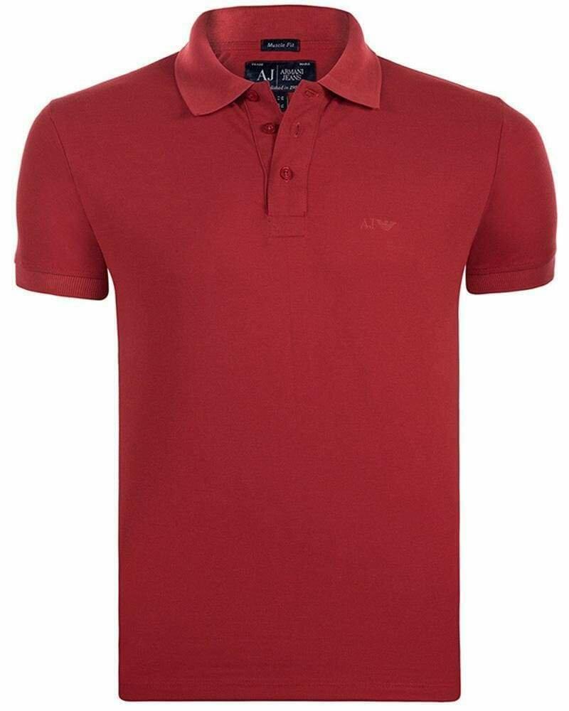 Armani Jeans Men's Polo Shirts Bordeaux