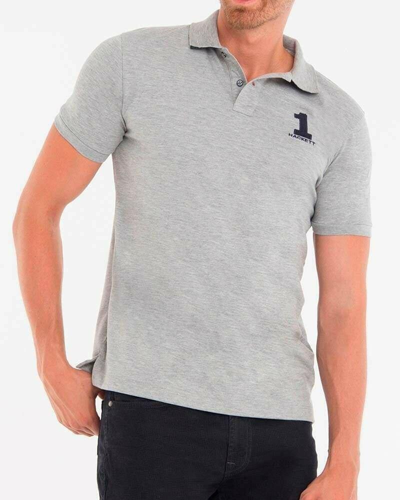 Hackett London Men's Polo Shirts Slim Fit Gray
