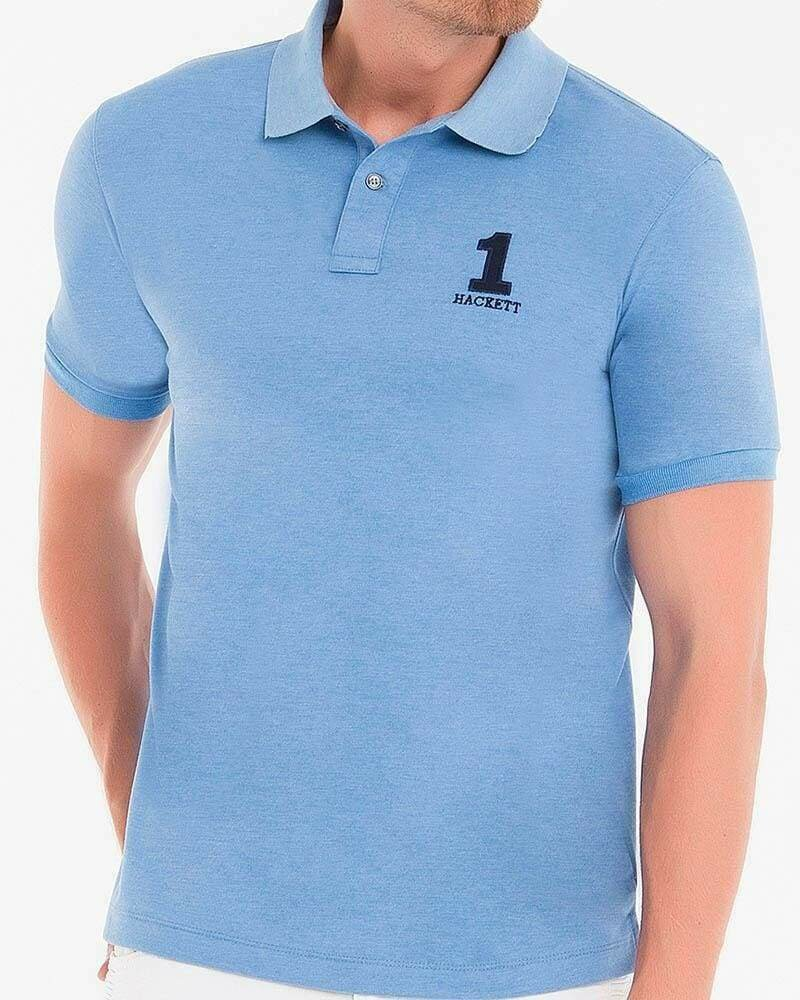 Hackett London Men's Polo Shirts Slim Fit Light Blue