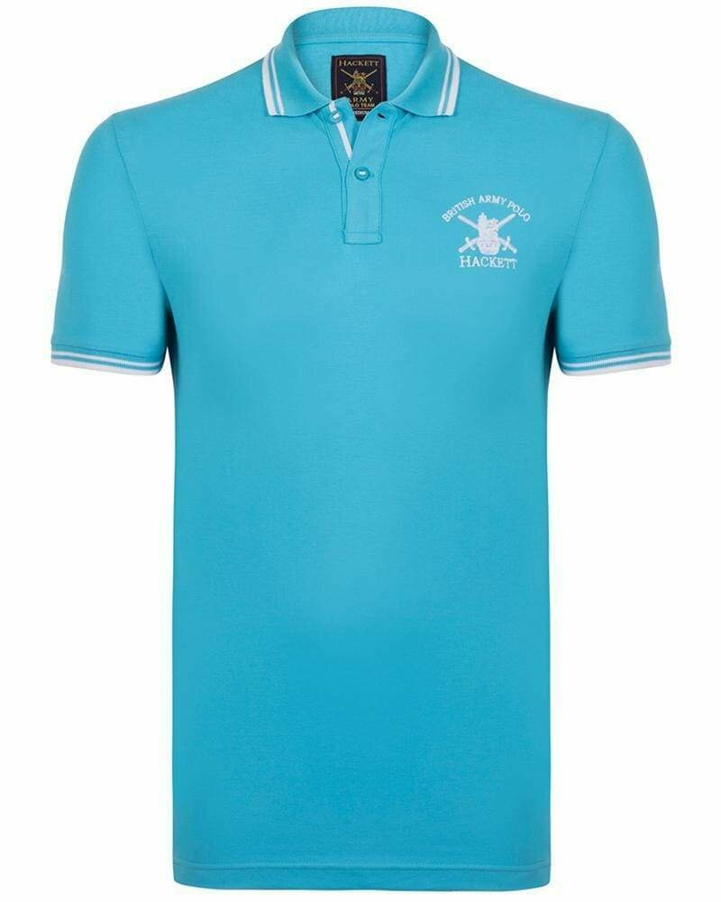 Hackett London Men's Polo Shirts Slim Fit Turquoise