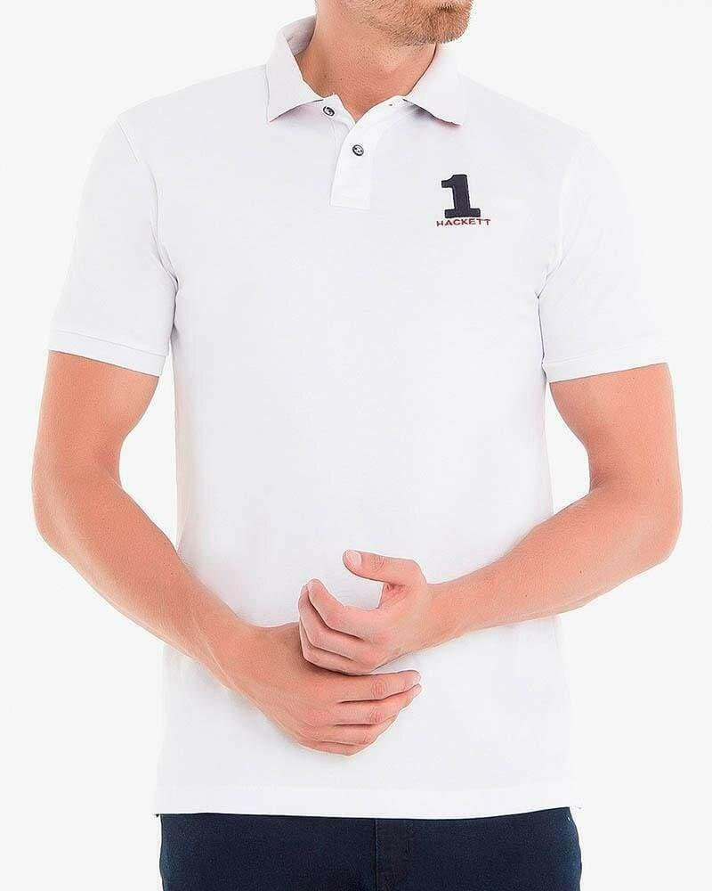 Hackett London Men's Polo Shirts Custom Fit White