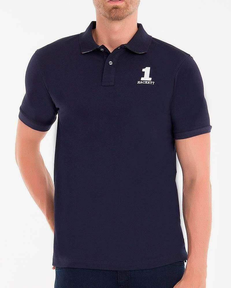 Hackett London Men's Polo Shirts Custom Fit Navy