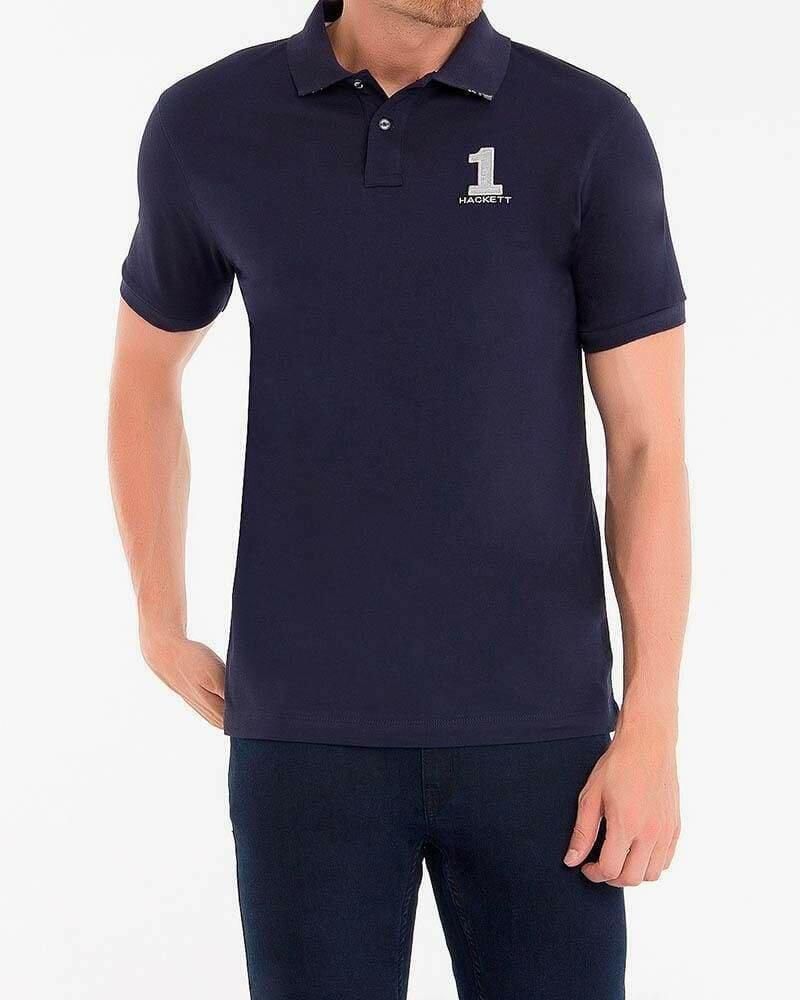 Hackett London Men's Polo Shirts Slim Fit Navy