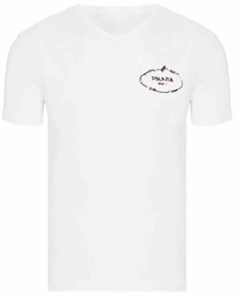 Prada Men's T-Shirt Crew Neck White