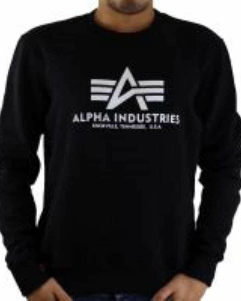 Alpha Industries Men's Sweatshirts Black