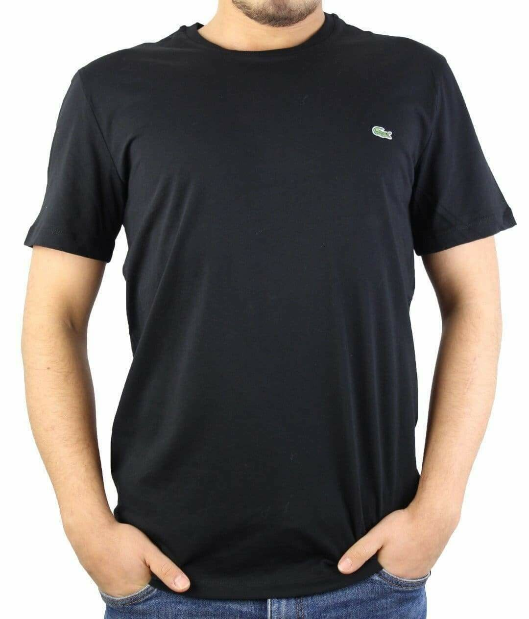 Lacoste Men's T-Shirt  Crew Neck Black