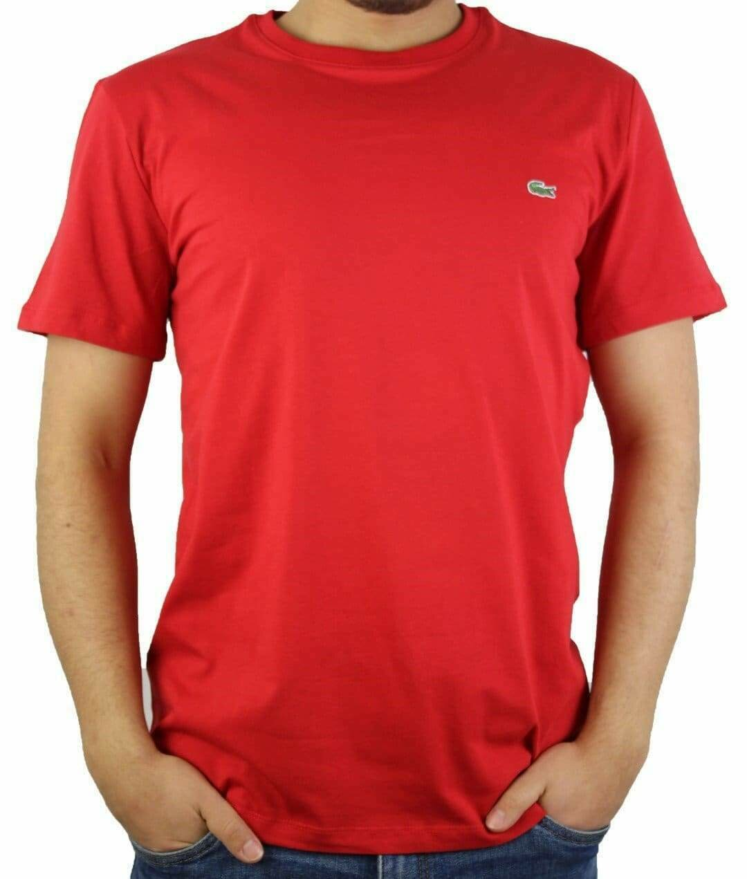 Lacoste Men's T-Shirt  Crew Neck Red
