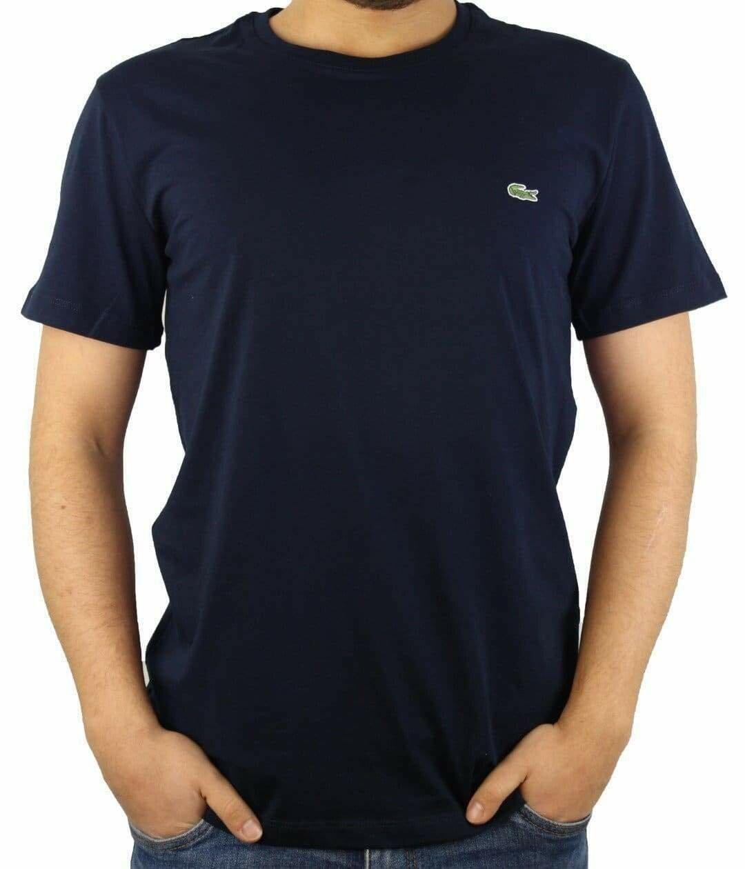 Lacoste Men's T-Shirt  Crew Neck Navy