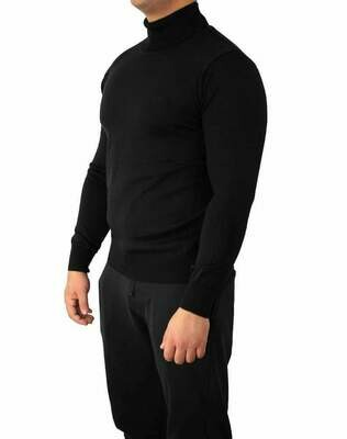 BOSS Rollneck Men's Pullover Black